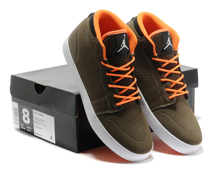 Cheap Real Casual Jordan 1 Coffe Orange Shoes