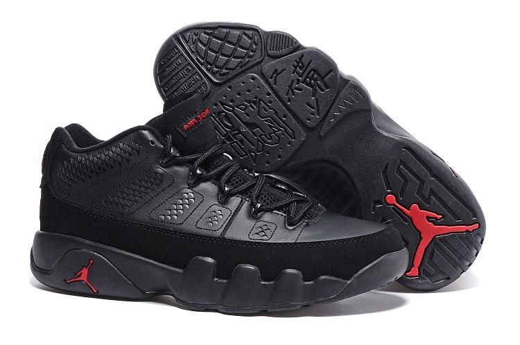 the latest b6f33 f693b Cheap Nike Air Jordan 9 Retro Low Black Varsity Red