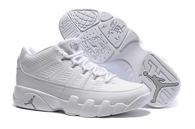 quality design eac99 1b9a0 Cheap Nike Air Jordan 9 Retro Low White Chrome