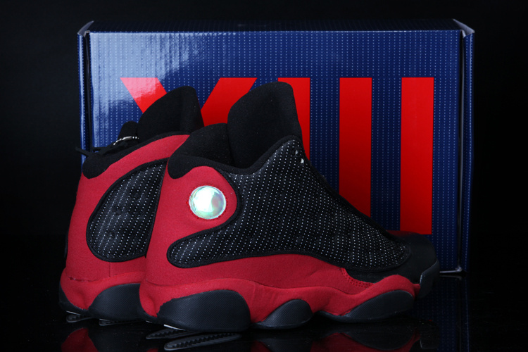 2013 Summer Jordan 13 Black Red Shoes