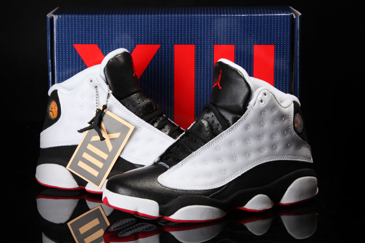 2013 Summer Jordan 13 White Black Red Shoes [REALAJS1520]