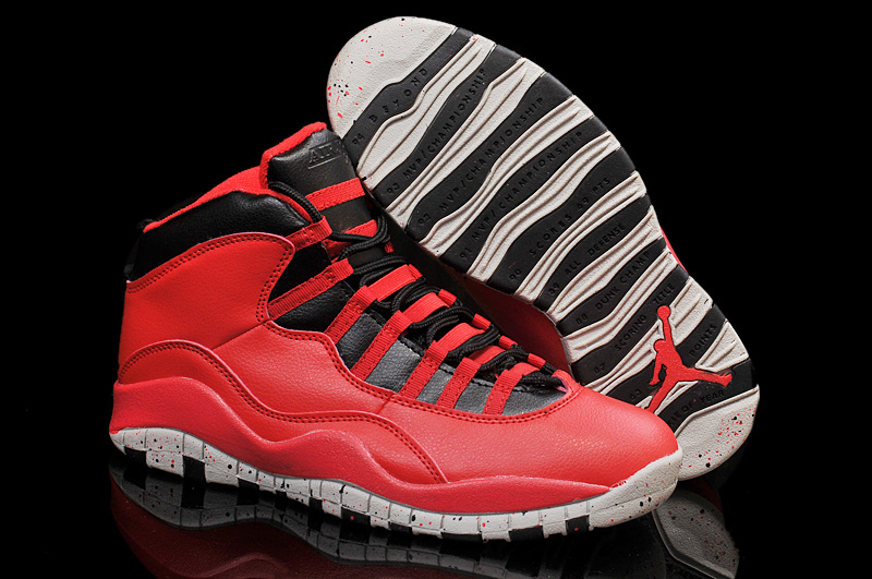 For Sale Air Jordan 10 Red Cement Remastered For 2015 Vivid Red Black White Cement