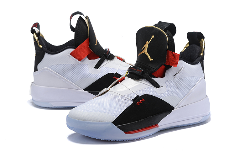 Air Jordan 33 Shoes Black Blue Red Version