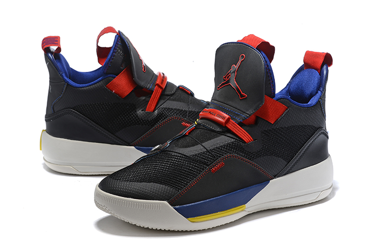 Air Jordan 33 Shoes Black Blue Version