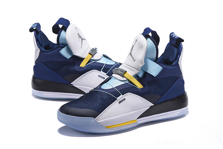 Air Jordan 33 Shoes Dark Blue Moon Blue Version