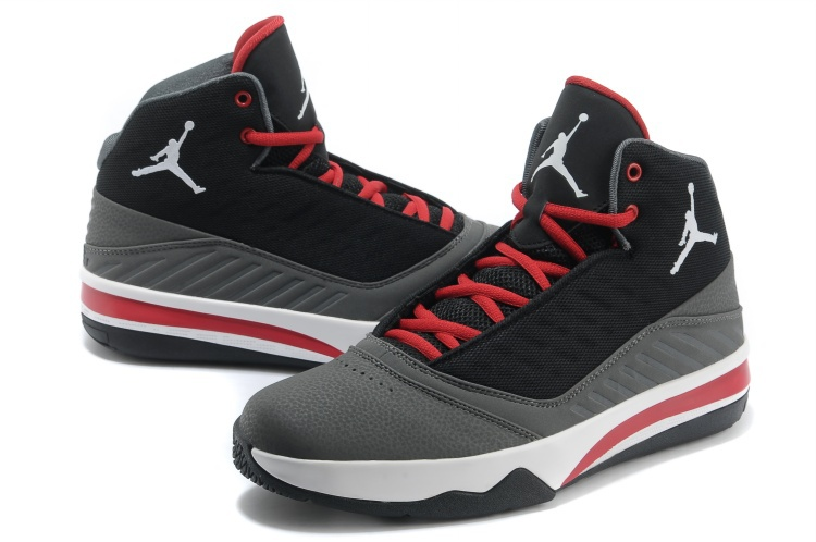 premium selection 1df7e 11ea3 Jordan B`MO Black Grey Red White Shoes