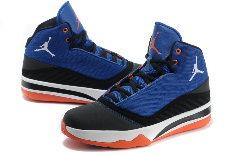Jordan B`MO Blue Black White Orange Shoes