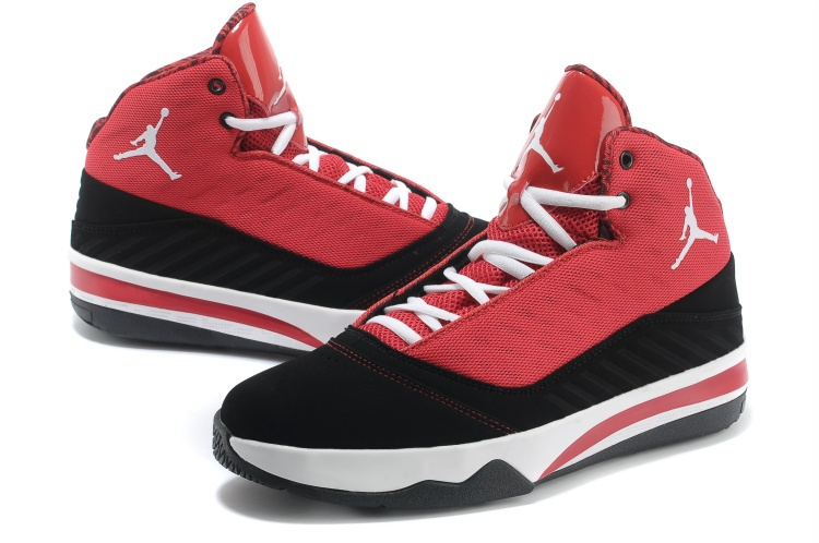 Jordan B`MO Red Black White Shoes