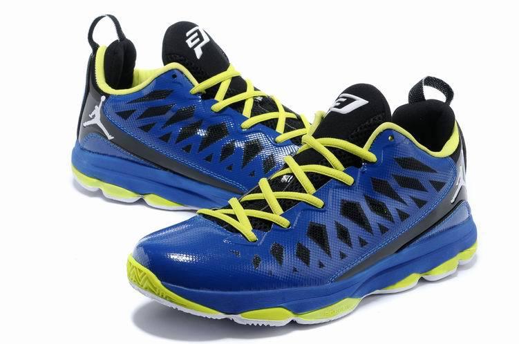 new product 2ab33 88920 2013 Jordan CP3 VI Blue Yellow Basketball Shoes