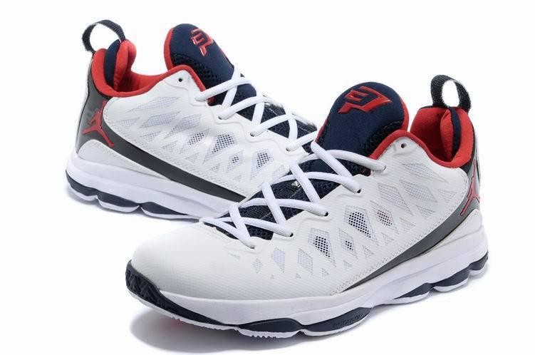 d62d8f2fd92b 2013 Jordan CP3 VI White Black Red Basketball Shoes