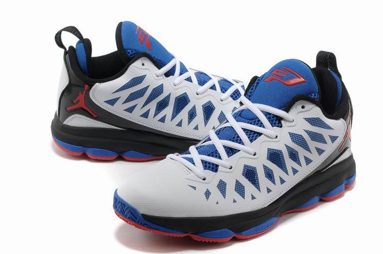 2013 Jordan CP3 VI White Blue Red Home Clippers Basketball Shoes