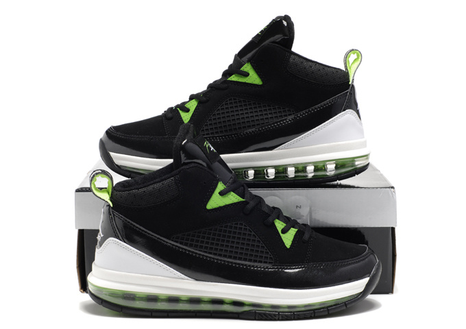 Authentic Air Jordan Fly Whole Palm Black White Green Shoes