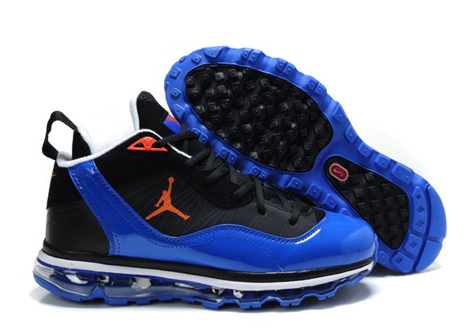 Comfortable Jordan Melo M8+Max 09 Black Blue Shoes