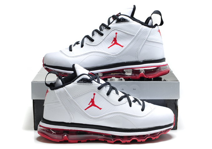 Comfortable Jordan Melo M8+Max 09 White Red Shoes