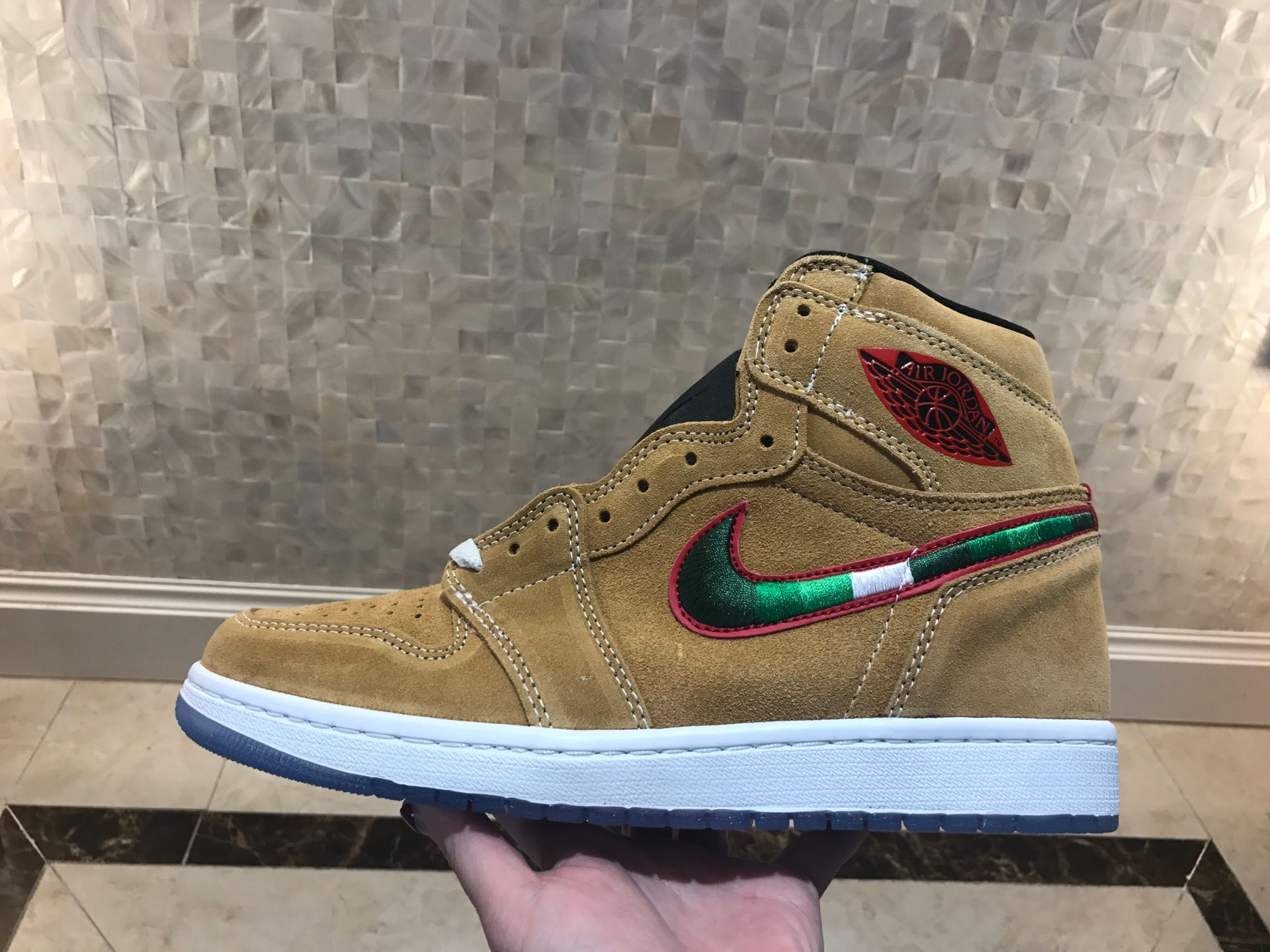 Air Jordan Shoes 1 Wheat Color Leather For Cheap