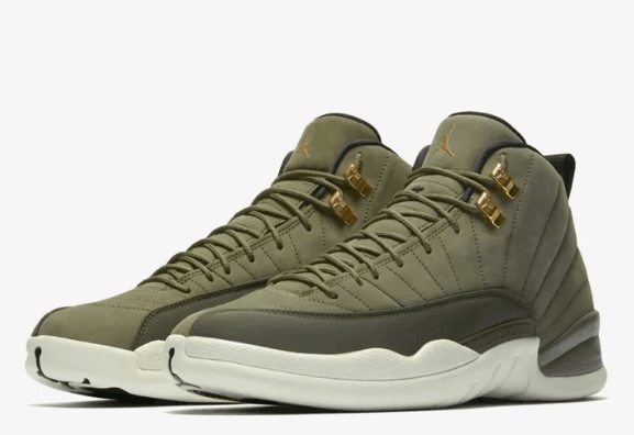 Air Jordan Shoes 12 Army Green For Sale