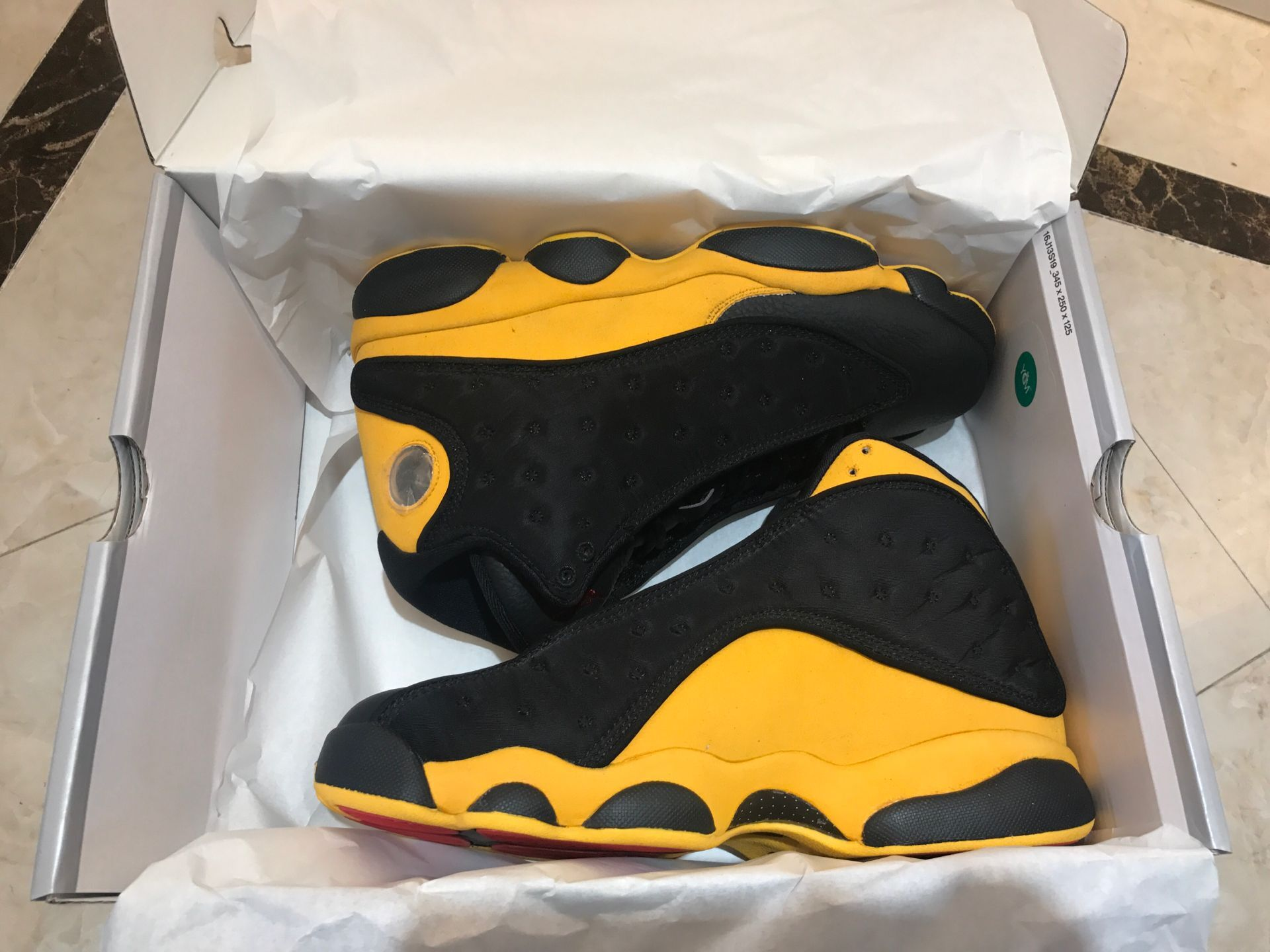 Air Jordan Shoes 13 Black Yellow For Cheap