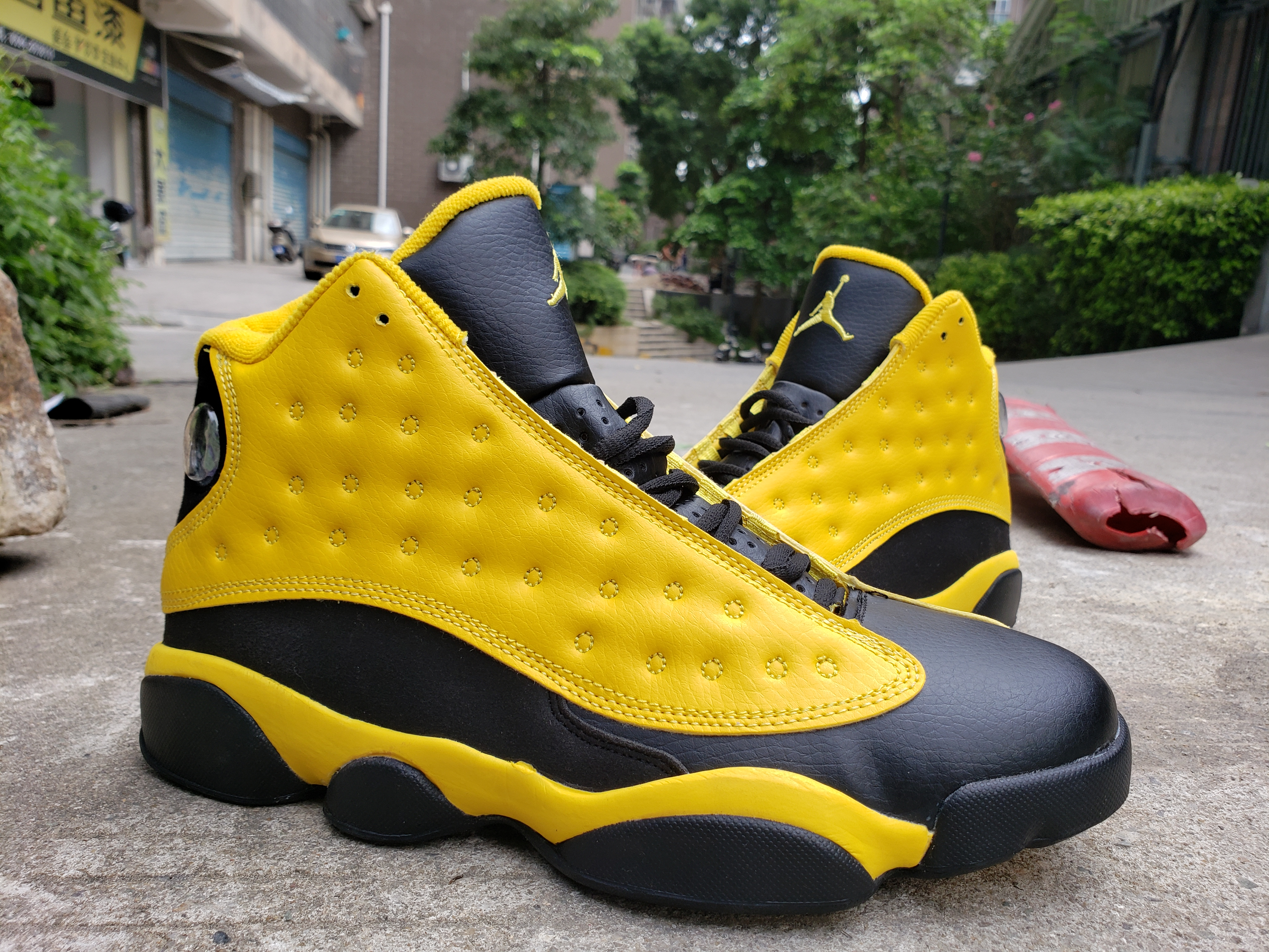 2019 Air Jordan Shoes 13 Yellow Black