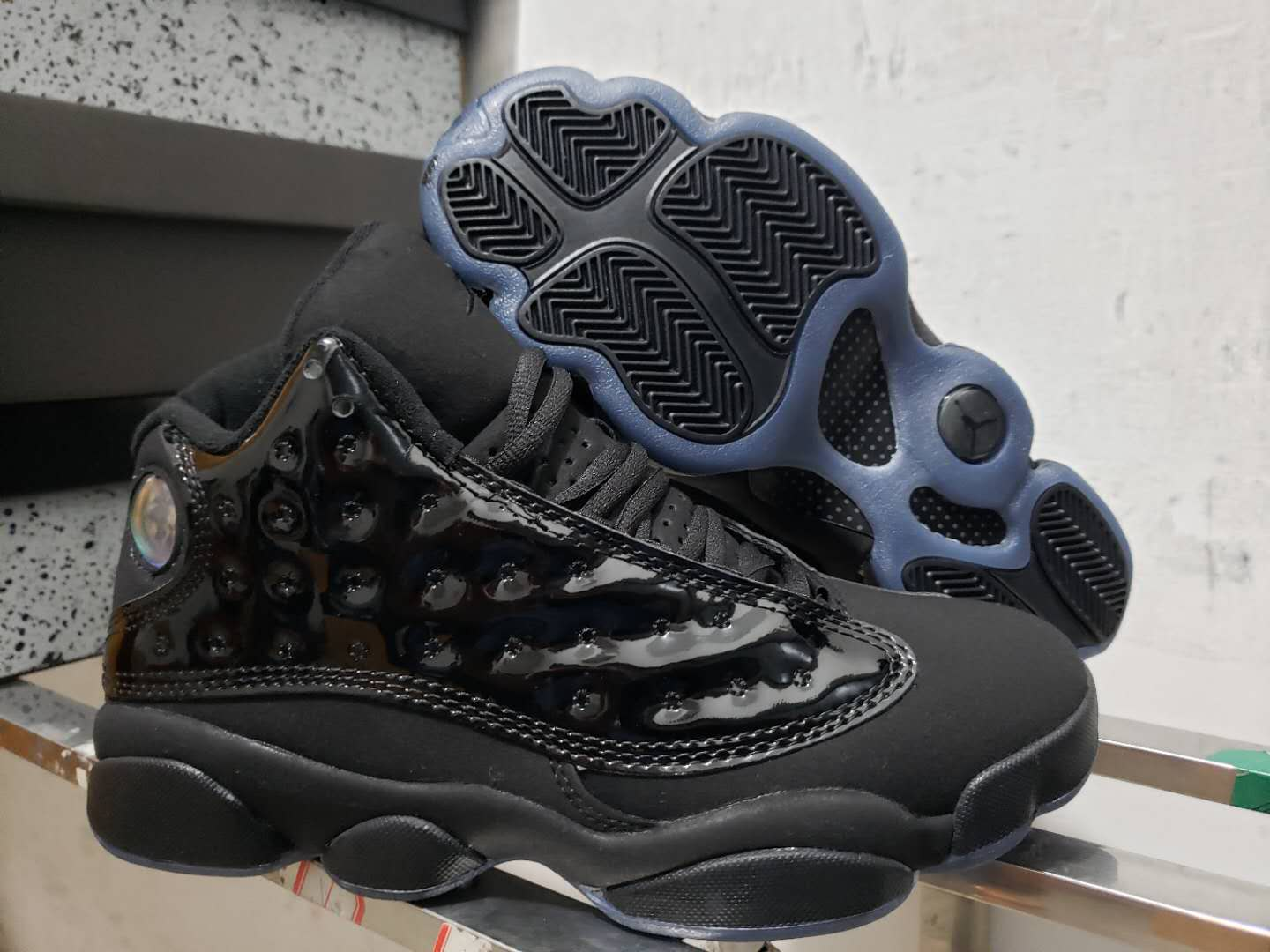 Air Jordan Shoes 3 Black Paint Leather For Cheap