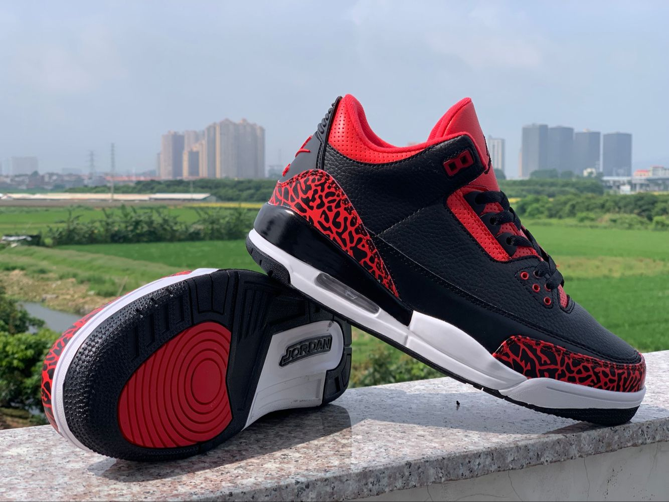 2019 Air Jordan Shoes 4 Black Red Crack Shoes