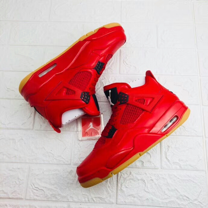 Air Jordan Shoes 4 Chinese Red Scratch Happy For Sale