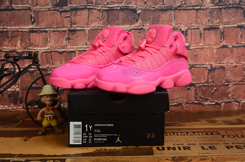 2019 Kids Jordan Six Rings Pink