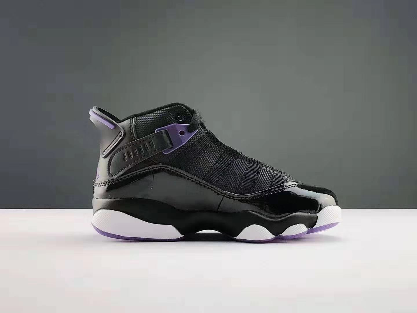 2019 Real Kids Jordan Six Rings Black Purple White