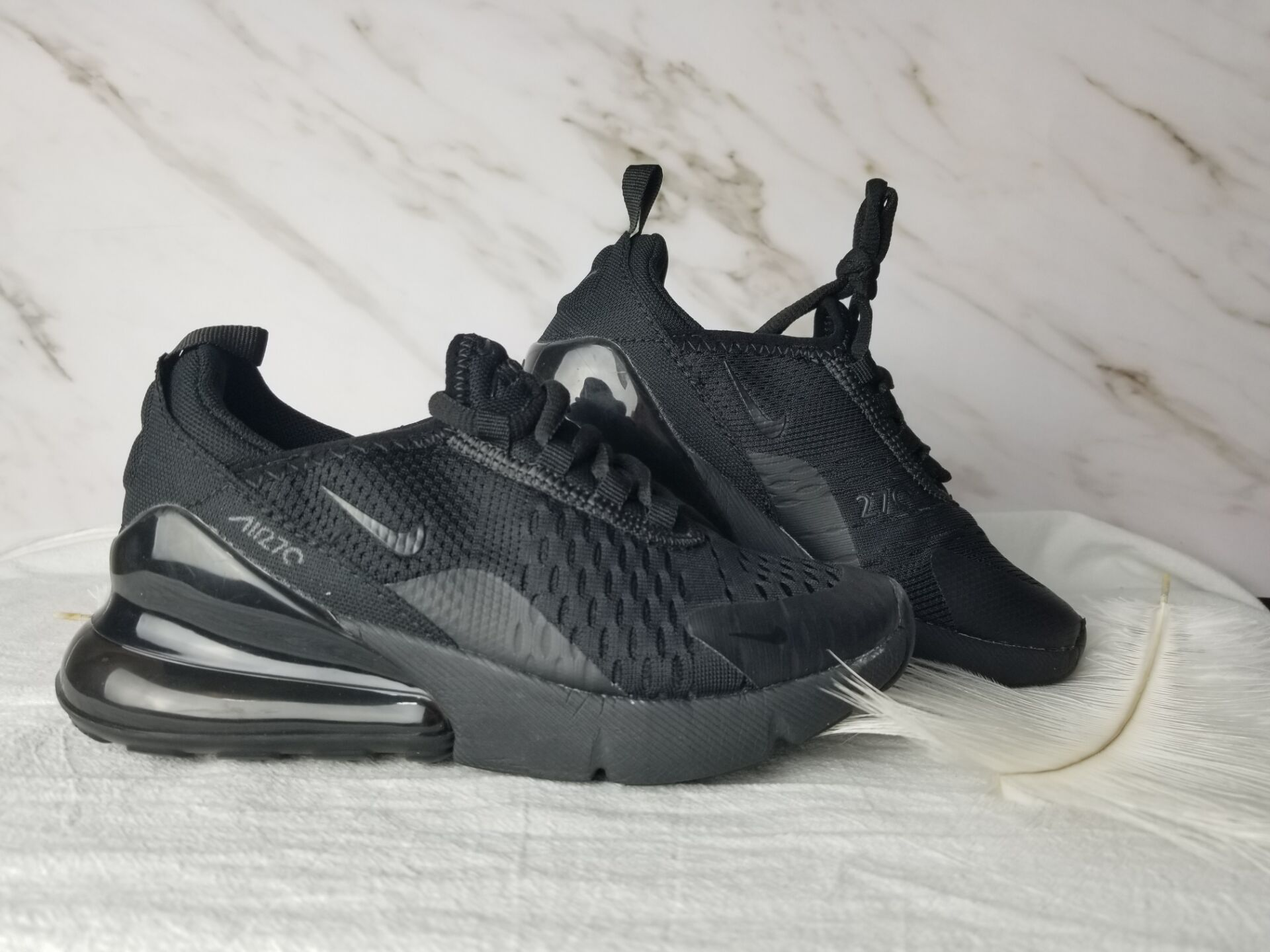 Kids Nike Air Max 270 All Black Shoes