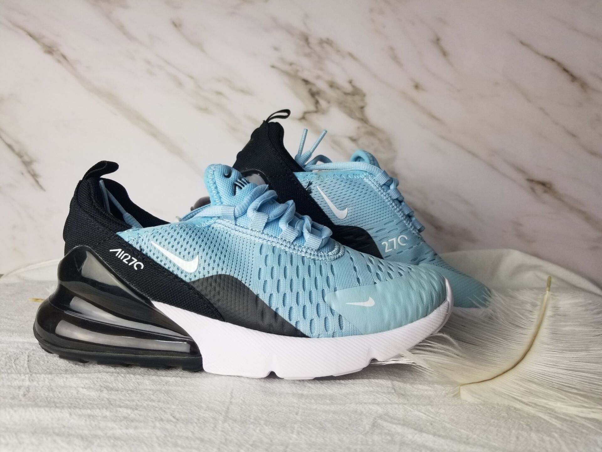 Kids Nike Air Max 270 Blue Black Shoes