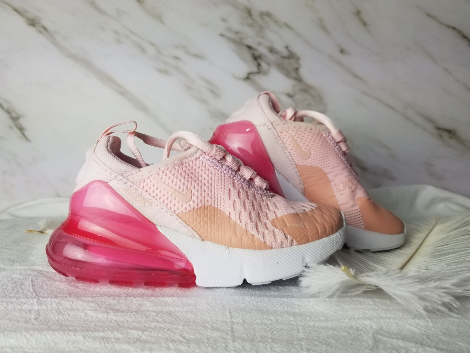 Kids Nike Air Max 270 Pink Red Shoes