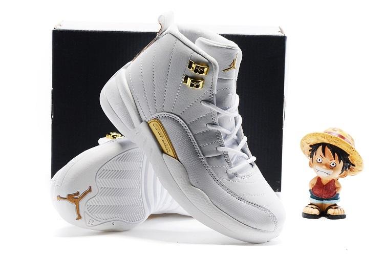 96e8644562a38d Kids Air Jordan 12 Retro All White Gold 2016