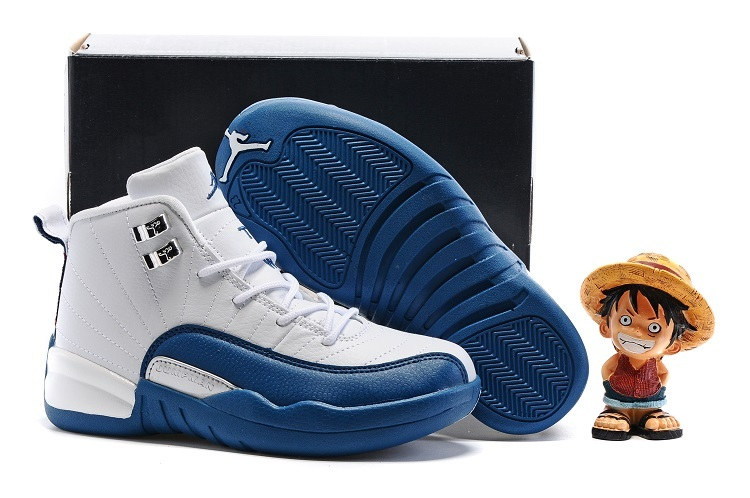 Kids Air Jordan 12 Retro French Blue 2016