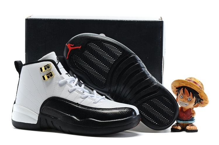 Kids Air Jordan 12 Retro Taxi White Black 2016