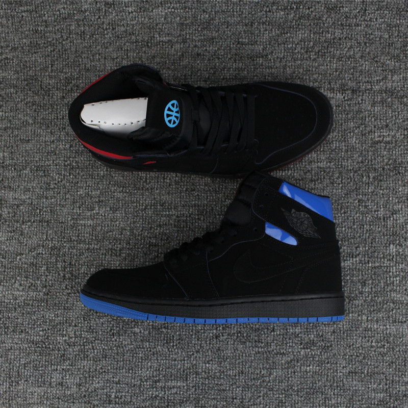 Men Air Jordan 1 Retro Mandarin Duck Black Blue Red Shoes