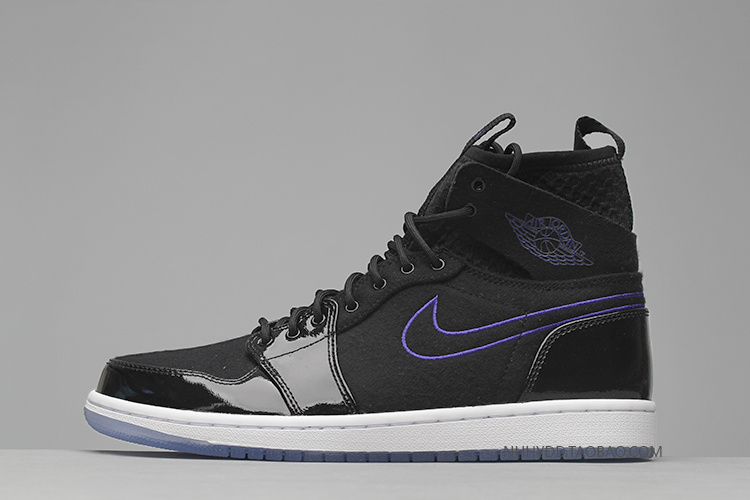 Men Air Jordan 1 Retro Ultra High Black Purple