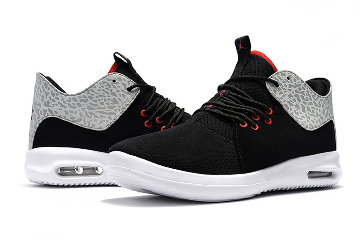 Mens Jordan Running Shoes 2018 Black Red Grey