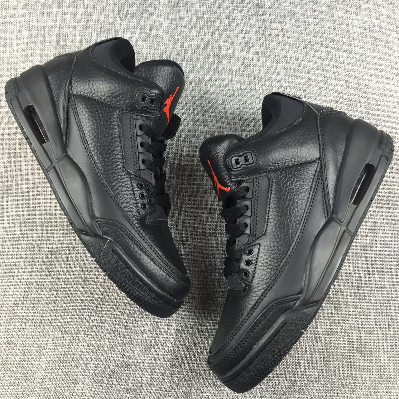 New Men Jordan 3 OVO Black Shoes