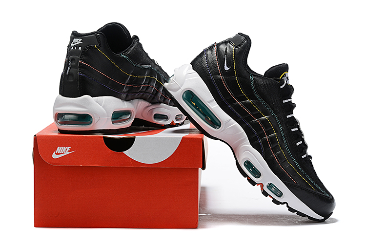 2019 Nike Air Max 95 Big Swoosh Black White