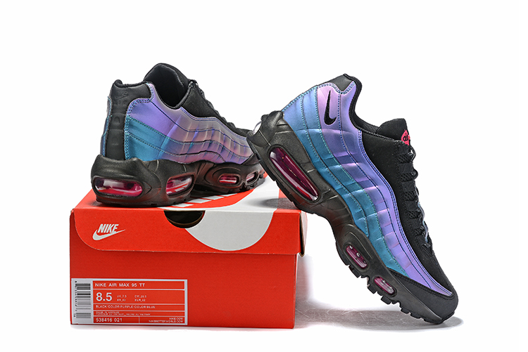 2019 Nike Air Max 95 Swoosh Purple Blue Black