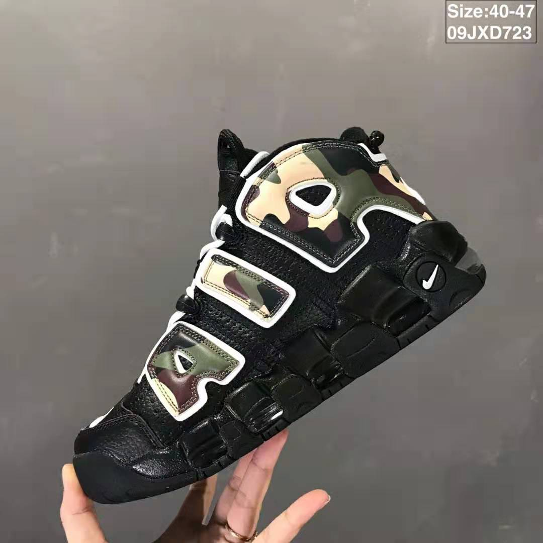 2019 Real Nike Air More Uptempo Black Fluorscent