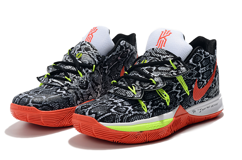 2019 Nike Kyrie 5 Black Grey Red Green