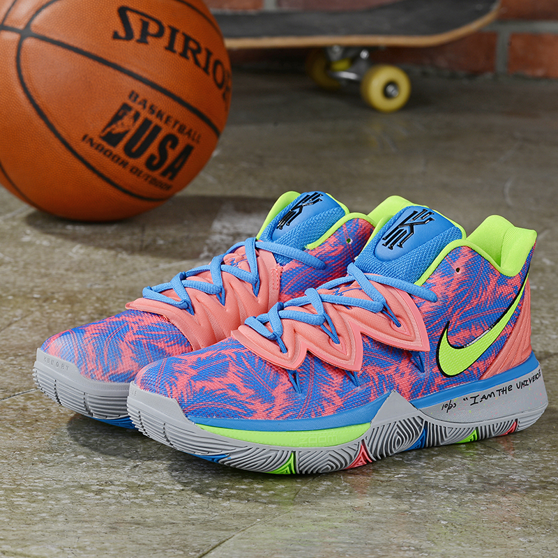 New Nike Kyrie 5 Blue Pink Fluorscent Green Shoes