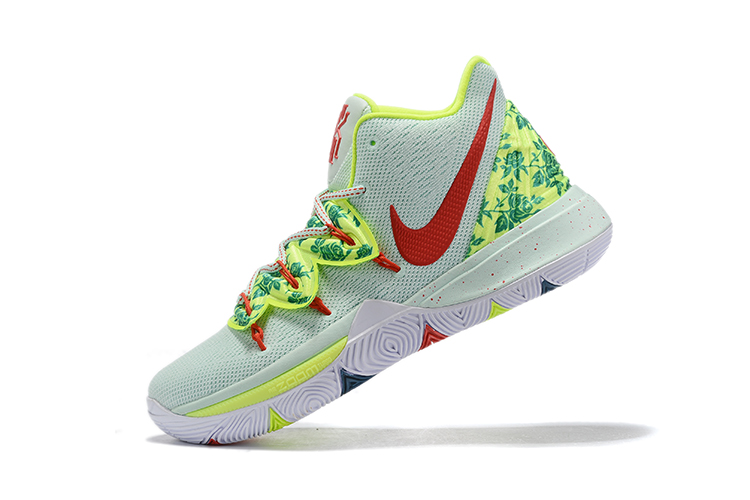 2019 Nike Kyrie 5 White Green Red Basketball Shoes
