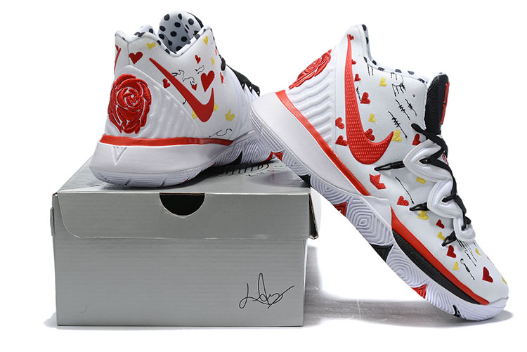 2019 Real Nike Kyrie 5 White Red Black