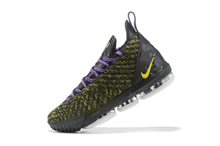 2019 Nike LeBron 16 Army Green Black Purple Basketball Shoes