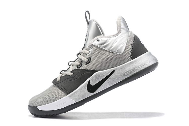 2019 Nike PG 3 Grey Black Silver Basketball Shoes