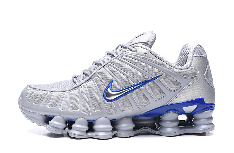 2019 Nike Shox TL1 White Blue Silver Shoes