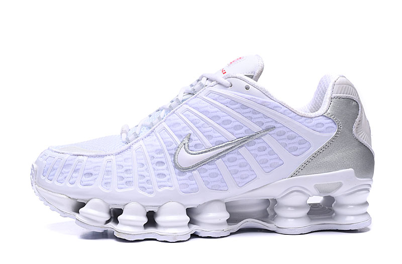 2019 Nike Shox TL1 White Silver Shoes