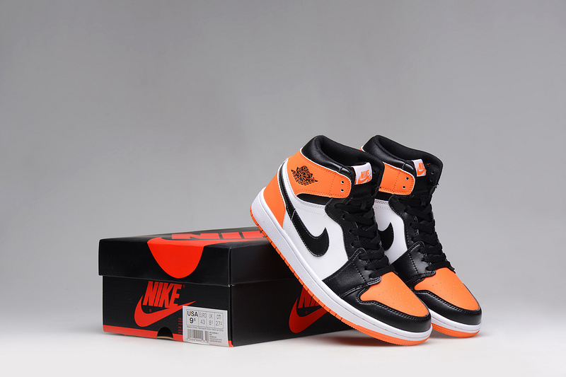 New 2015 Air Jordan 1 Dun Black Orange White Shoes