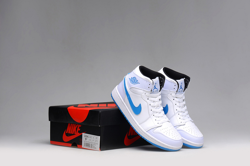 New 2015 Air Jordan 1 White Blue Shoes